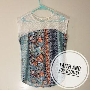 Faith and Joy Floral Blouse